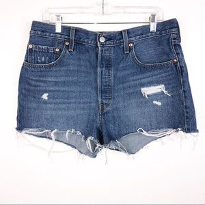 Levi's 501 Frayed distressed Cut off Short size 32